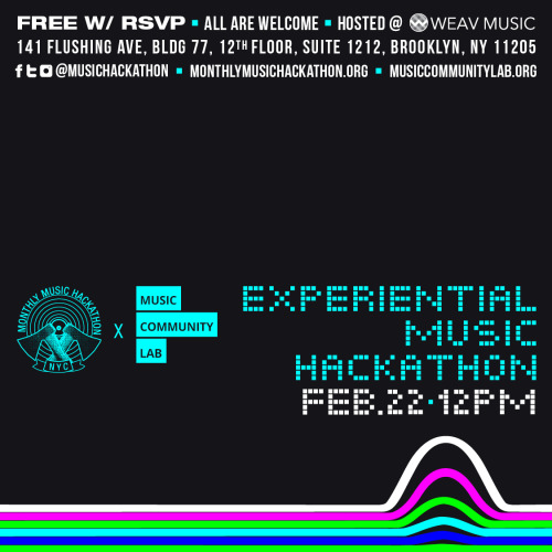 Music Hackathon Flyer